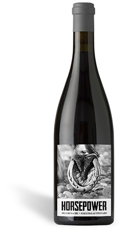 A bottle of Horsepower Vineyards wine